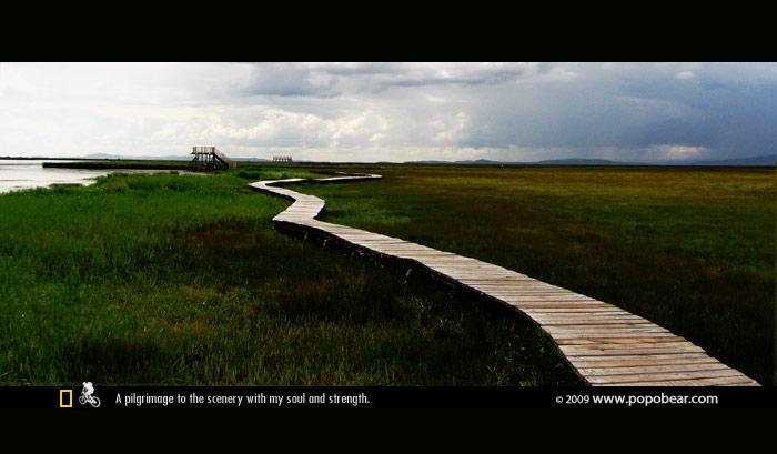花湖的木桥
